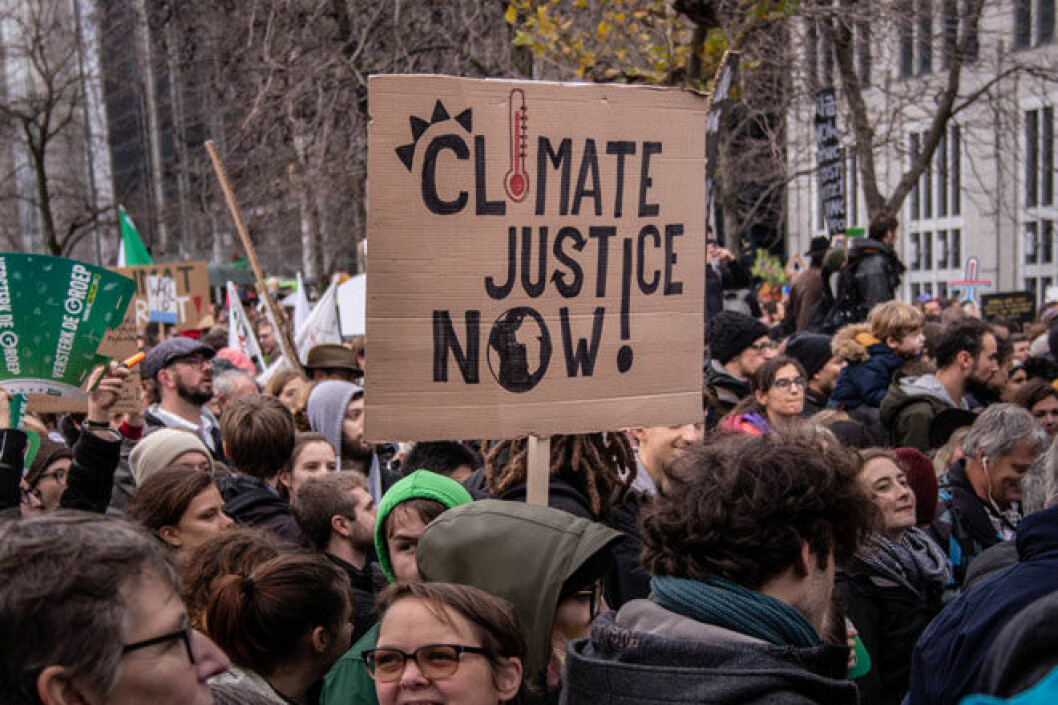 Protesters at the Brussels climate march in 2018 (Photo: Pelle De Brabander, CC BY 2.0)