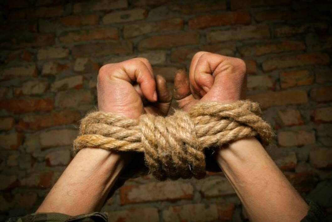 Human trafficking has been described as 'the 21st century slave trade' (Photo: Colourbox)