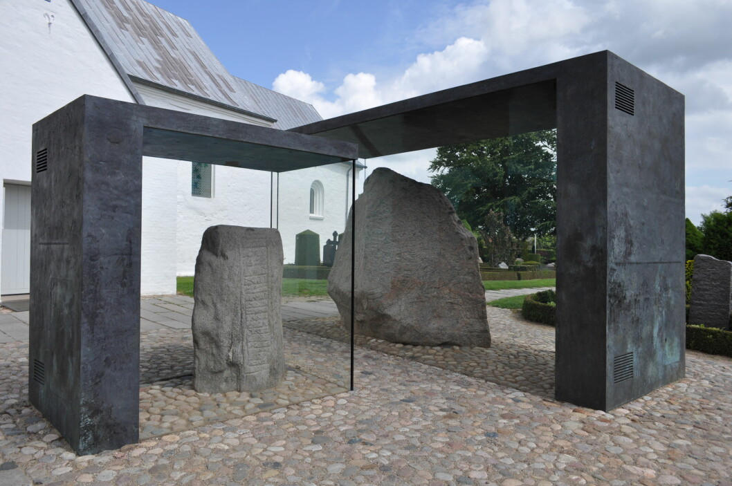 The 10th century Jelling stone is one of the heritage sites promoted by the Danish Peoples' Party. (Photo: Wikipedia / By Ajepbah / CC BY-SA 3.0)