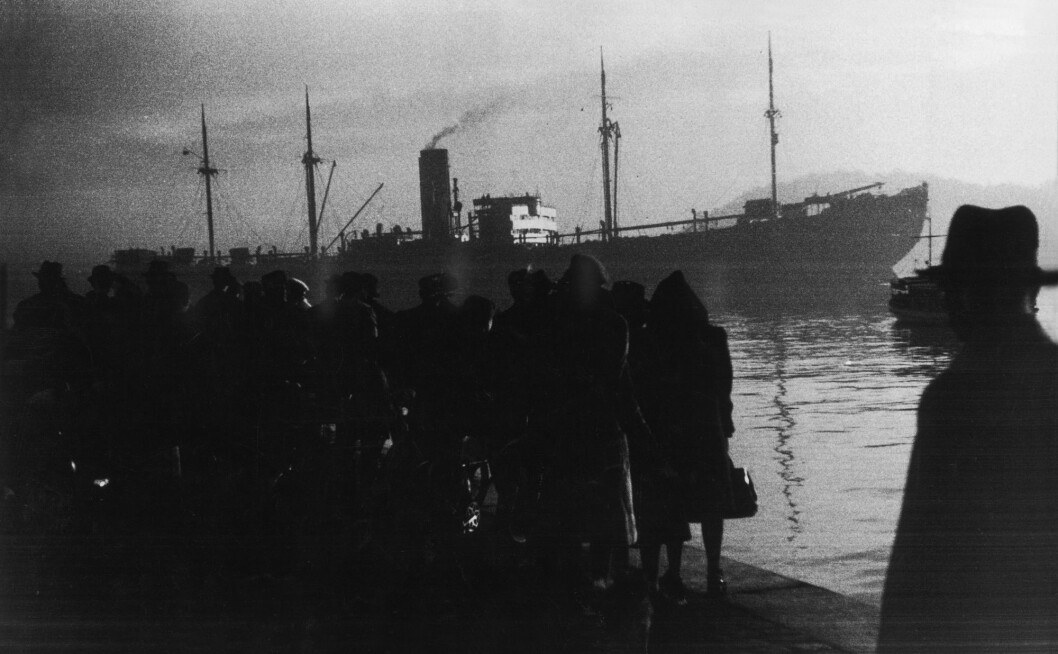 The German transport ship Donau departed from the American Line quay, Pier 1 in Oslo on November 26, 1942. The ship contained 529 Jews who were being sent to extermination camps. Researchers are still making new discoveries in Norwegian archives that reveal just how much politicians knew about where the deportees were going. (Photo: Georg W. Fossum / NTB scanpix)