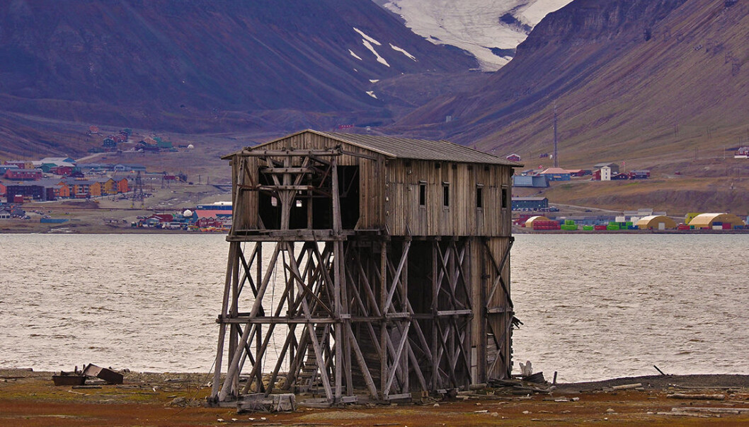 The old coal cableway centre at Hiorthamn, Svalbard. (Photo: A.C. Flyen, NIKU)