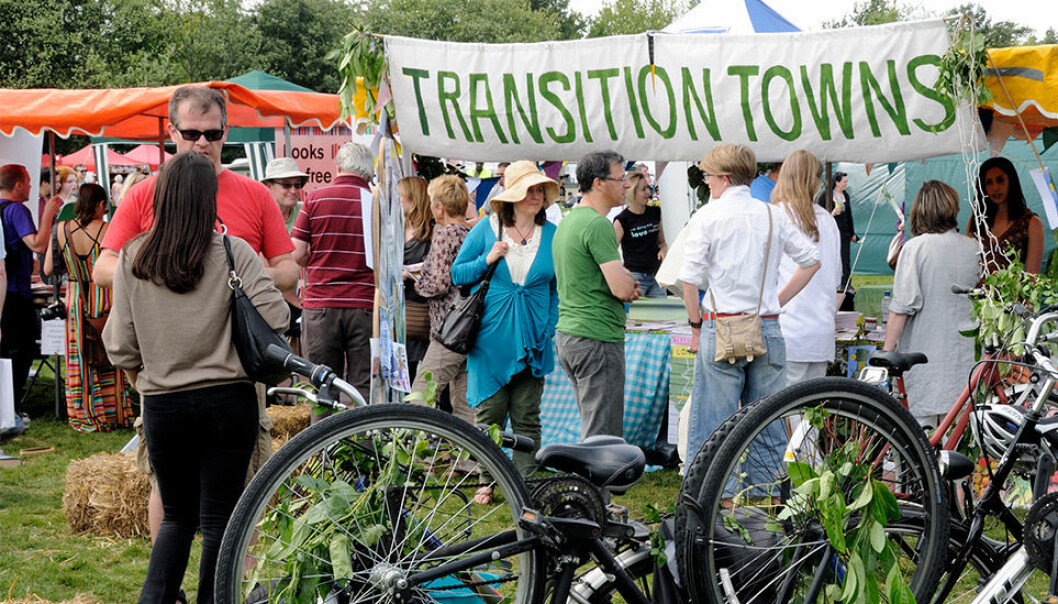 A Transition Towns Stall at the London Green Fair (previously Camden Green Fair) England UK