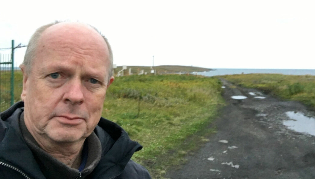 Morten Jentoft has written a book about the Kola Norwegians. Here is a picture of him taken in Tsypnavolok on the Rybachy Peninsula in 2017. About half of the Norwegian settlers lived in this village.
