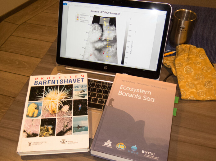 On the shoulders of giants. Brought on board for reflection and inspiration, the seminal textbooks resulting from the Pro Mare project and work that followed.
