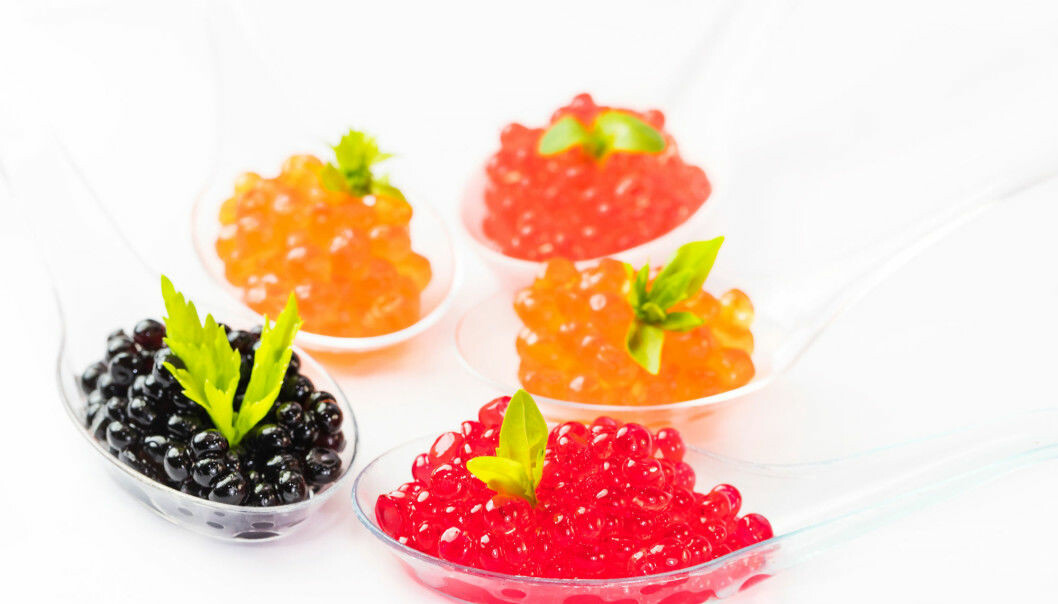 Caviar exist in many colours and sizes.