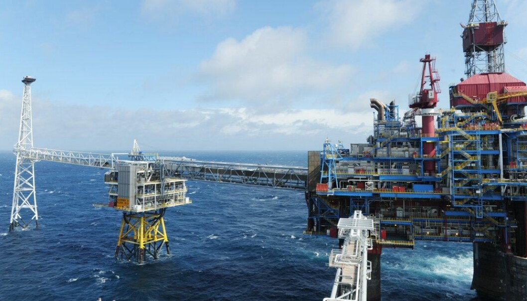 The Sleipner field in the North Sea, where Equinor has been injecting CO2 into a subsea formation for more than 20 years.