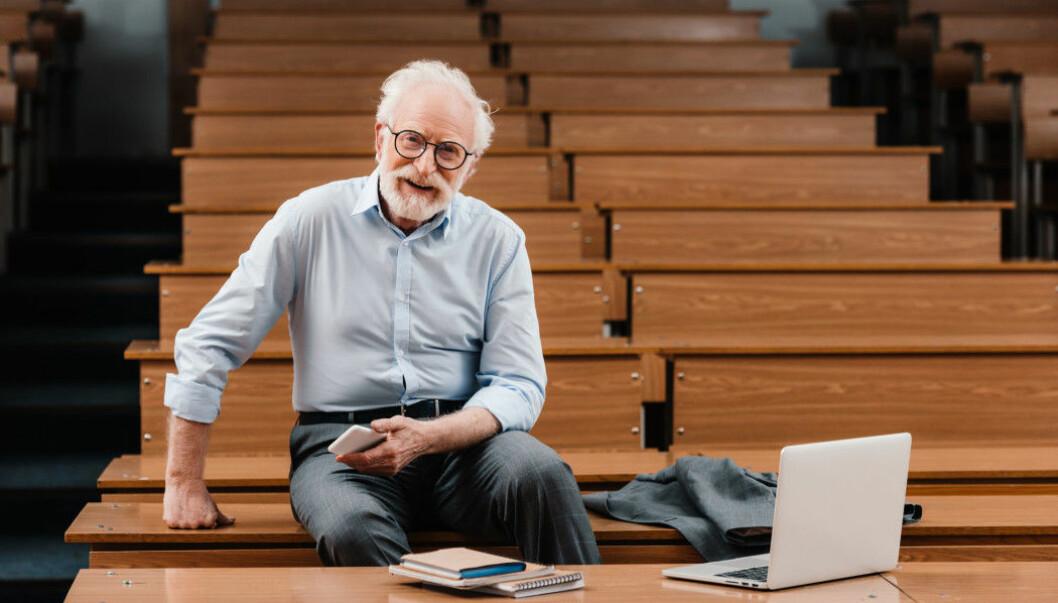 Typical professor: an older man.