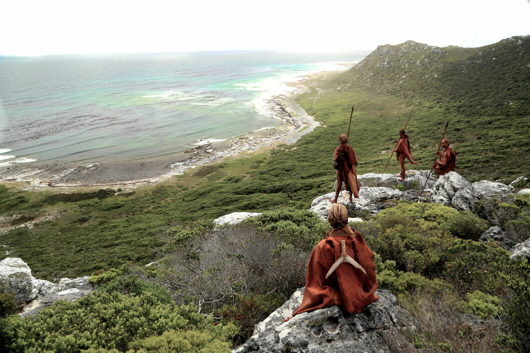 BLOMBOS CAVE: The cave is located at the foot of a cliff in the spectacular rocky landscape at Still Bay near Cape Town. It is now 100 metres from the coast and 35 metres above sea-level, but in the past lower sea-levels may have shifted the coastline several kilometres away.