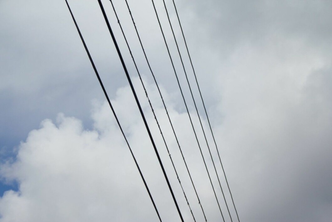 Power lines.