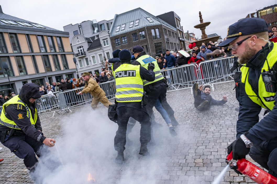In November last year, the group Stop Islamisation of Norway (SIAN) set fire to a Quran in Kristiansand. Counter-protesters reacted, resulting in a brawl.