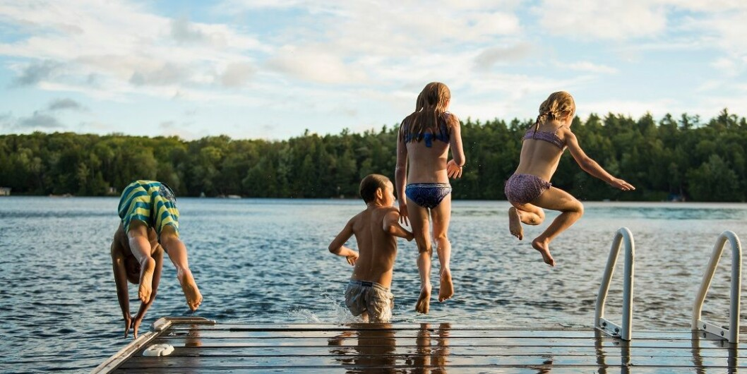 Only two per cent of schools practise outdoor swimming today – meaning 98 per cent don't.