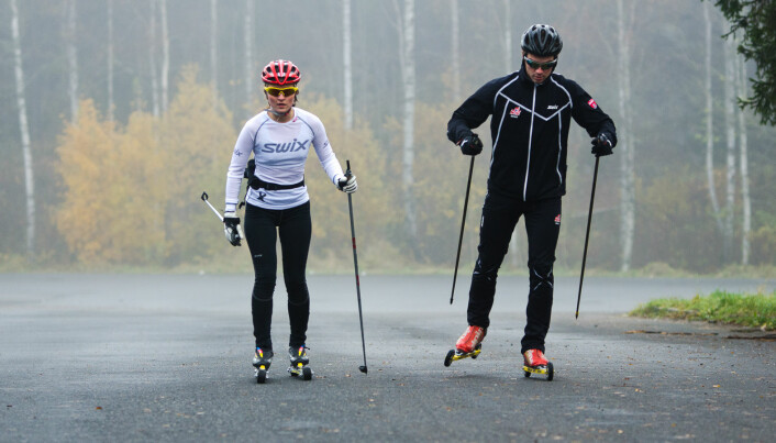 Training cross country skiing is much more about playing and having fun - and much more often run by the athletes' parents