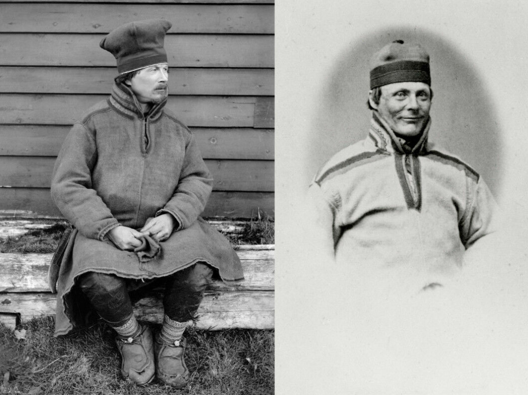 Two of the Sami punished for the Kautokeino rebellion wrote about their lives while in prison: Lars Hætta (left) photographed in 1882, after he was released, and Anders Bær, pictured at the Akershus Fortress around 1860.