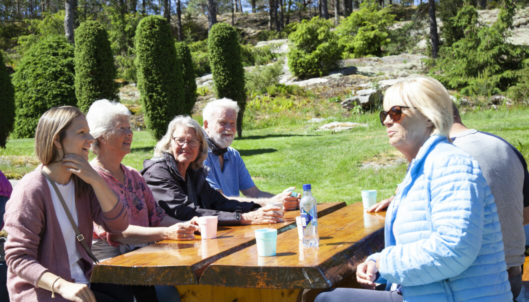 Being outdoors and spending time with others is a big part of the care given to people with dementia on farms.
