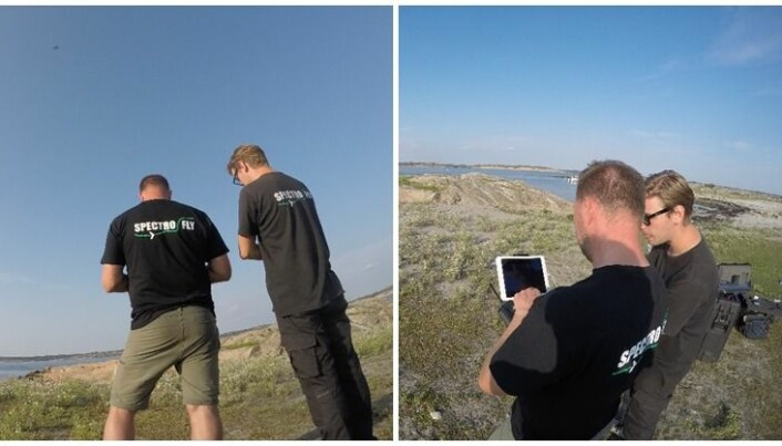 SpectroFly watching their drones progress remotely via smart technology.