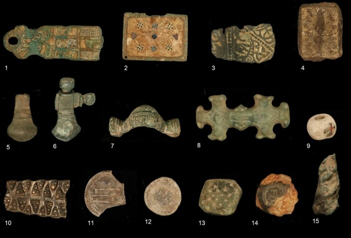 Stray artefacts found by private metal detectorists.