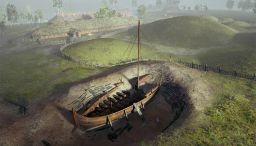 The viking ship at Gjellestad comes to life online