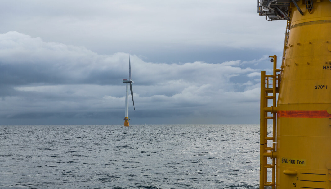 Equinor, Norway's biggest oil company, has already begun to invest in offshore wind projects, such as this project, Hywind Scotland at Buchan Deep. Photo: Øyvind Gravås/Woldcam/Equino