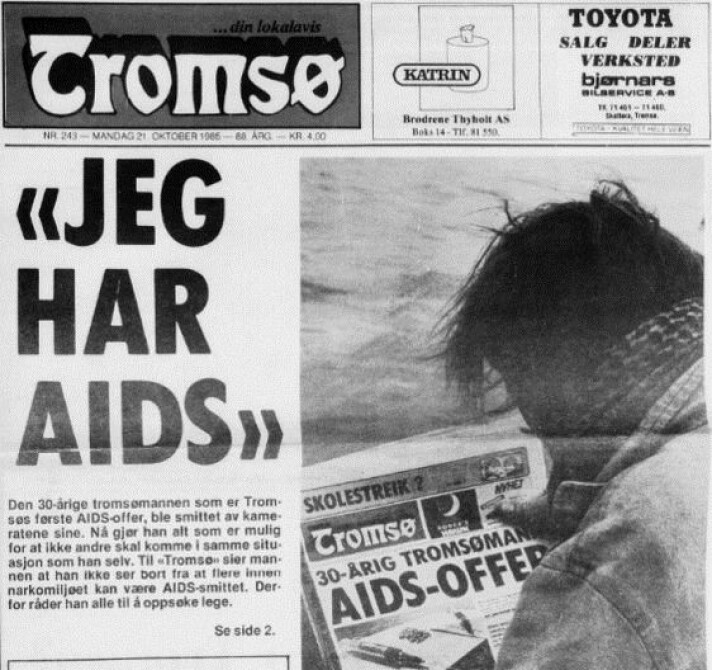 A Tromsø man was one of the first to come forward and say he had AIDS. In parallel with the epidemic, the media started a new way of covering illness, with a focus on the patient, says Elisabeth Jakobsen.