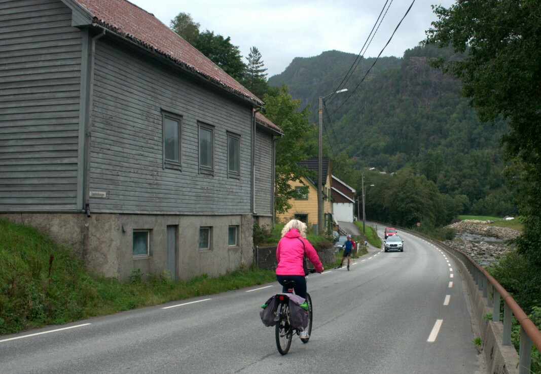 Bicycling is popular in Sauda, despite the fact that cyclists have to compete with a lot of other road users.