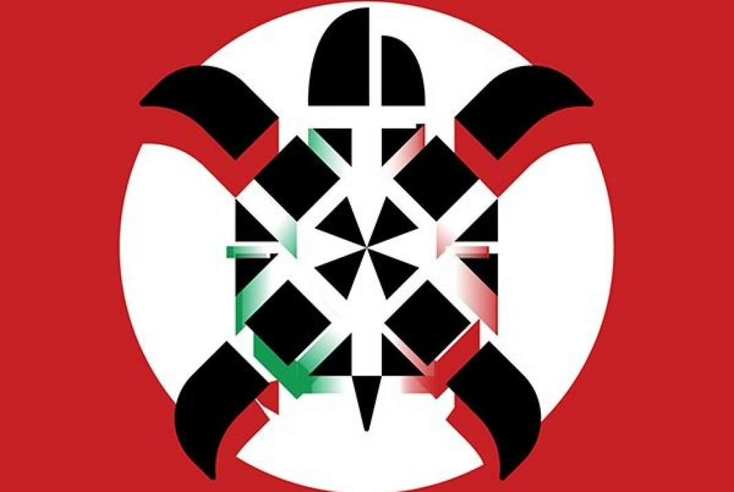 The logo of CasaPound redesigned by Alberto Caselli (semiologist at EUI)