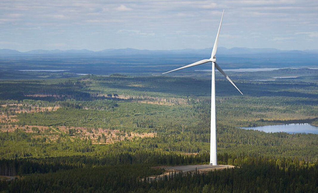 The property tax is the major justification for welcoming windpower projects. In this photo: Stamåsen Wind Farm.