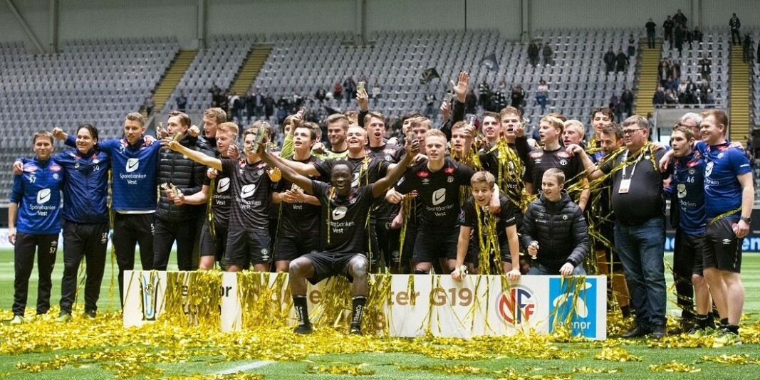 Sogndal Football Club who won the championship at Norway Cup G19 in 2018, after defeating team Rosenborg Football Club in the finals.