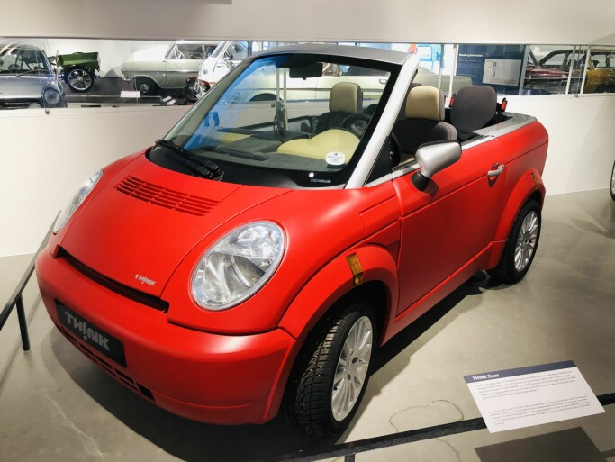 Think also created a convertible called Think Open. It was a hip little plastic electric car that would certainly catch people's attention if you took it out on the road today.
