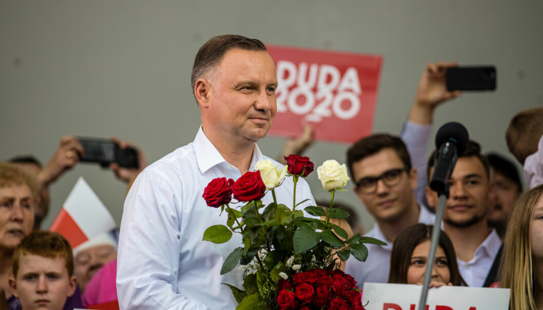 Polish President Andrzej Duda smiles during his election rally in Kwidzyn, Poland June 29, 2020. President Duda came top in the first round of the country's presidential election, the majority of results showed on Monday, but fell short of the overall majority needed to avoid what looks set to be a tight run-off vote on July 12.