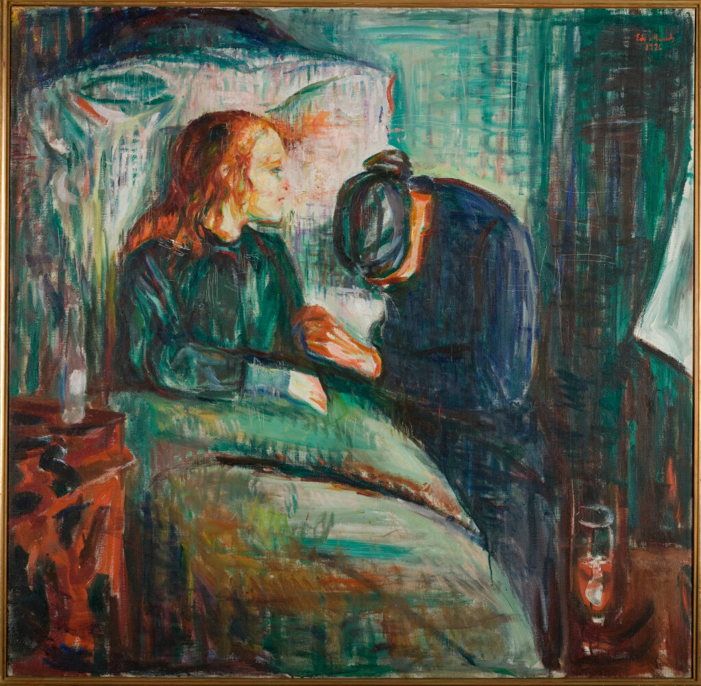 In the 19th century, life expectancy was just 40 years and many childhood diseases were fatal. (Artist: Edvard Munch.