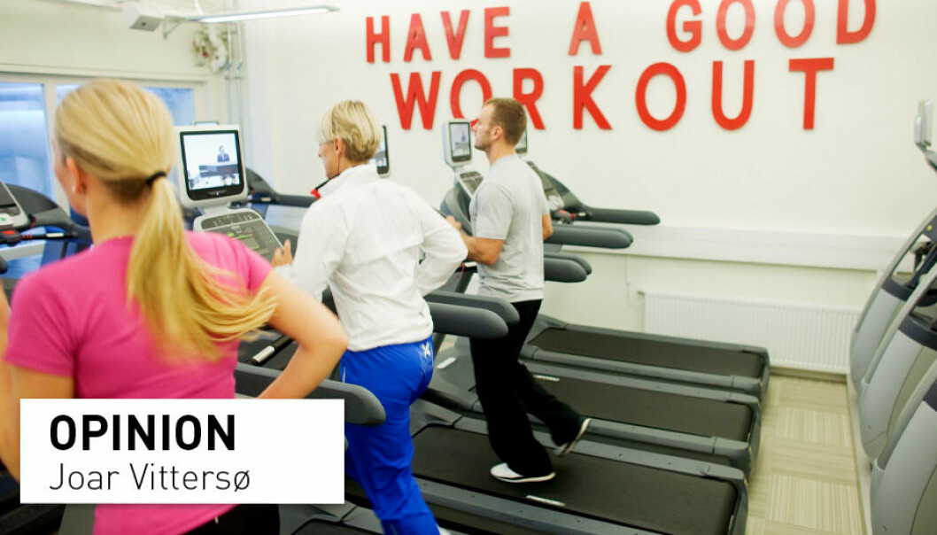 The experiment is flawed because none of those who trained at the gyms were infected with corona. The study therefore shows nothing else than what we already know: No infection can be transmitted if there is no infection to transmit, writes Joar Vittersø.