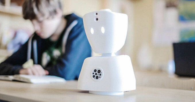 The AV1 robot can help children who have to home school.
