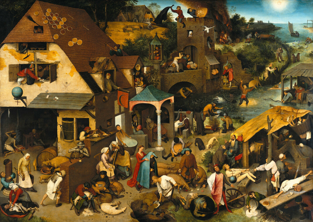 Researchers say our perception of stench and filth in medieval cities is an exaggeration. But the cities certainly had their challenges. This rendition of a city is not from the Middle Ages; it was painted in the 1500s and depicts a number of proverbs.