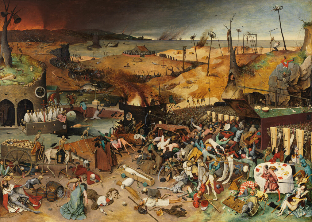 "Pieter Brueghel the Elde's painting ""The Triumph of Death"" from1562."