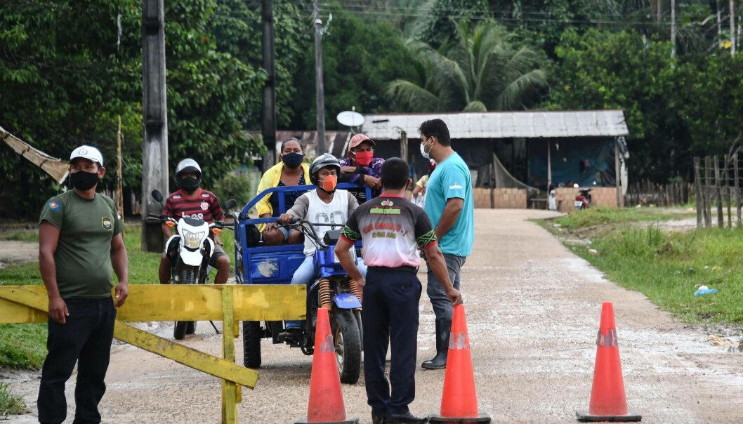 Indigenous peoples in the Amazon in Brazil set up roadblocks to prevent outsiders from accessing their villages. They are afraid of becoming infected with the coronavirus.
