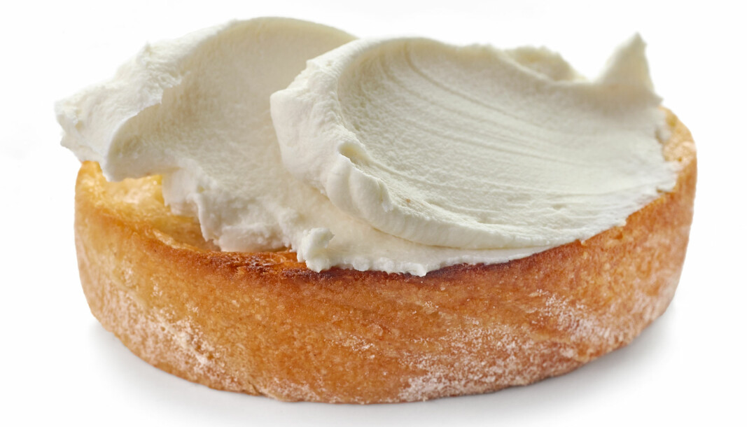 Many cream cheeses contain carrageenan, an additive used to give the cheese a good consistency.