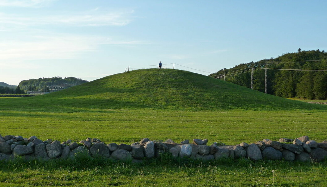 The Gokstad mound as it looks today