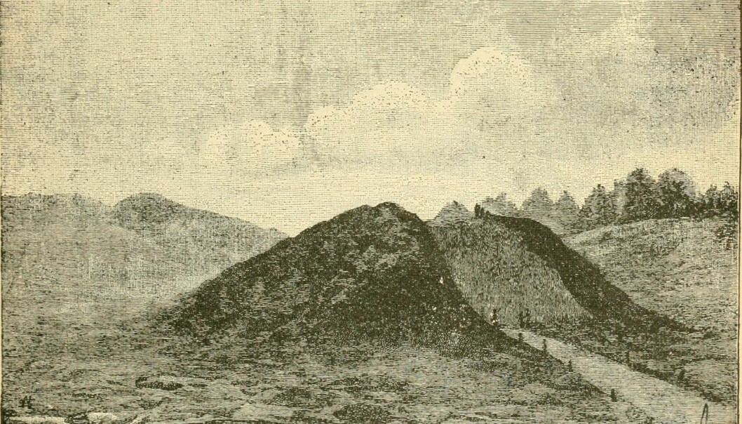An illustration showing the excavation in the mound from the 1890s, taken from a report from the Smithsonian Institution. (Image: Annual report of the Board of Regents of the Smithsonian Institution