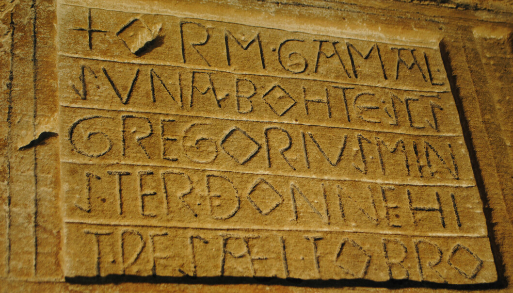 Inscriptions from the Viking Age and the Middle Ages shows that runes and letters were used in alternation. These are letter inscriptions from a church in England.