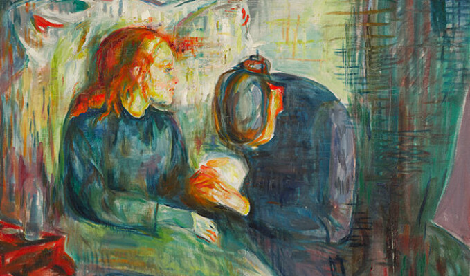 The artist myth influences how Munch's art was and is understood. In 1886 Munch provoked the public with his impressionistic style in the painting The Sick Child.