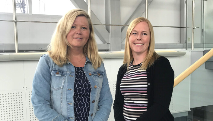 """""""The coronavirus pandemic motivated us to find out how we can have effective and good video meetings in the healthcare sector,"""" says the e-health researchers (from left) Line Silsand and Gro-Hilde Severinsen."""