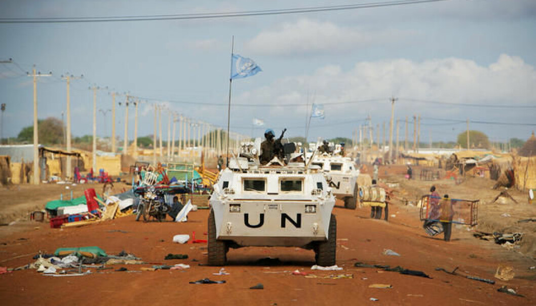UN peacekeepers on Patrol in Abyei on the border between South Sudan and Sudan.