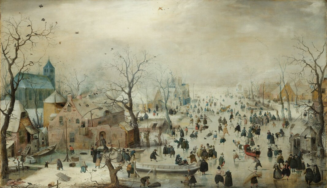The Dutch artist Hendrick Avercamp painted winter activity on the ice during the first half of the 17th century, when it was quite cold in Central and Northern Europe.