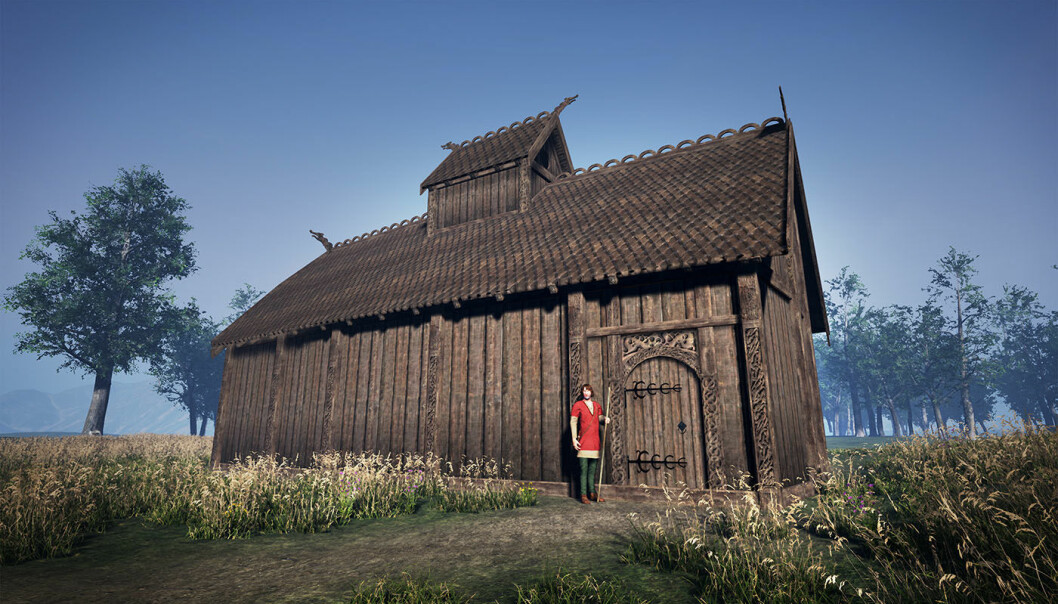 Gods like Odin and Thor could have been honoured in buildings like this. This reconstruction is modest, as the researchers want to wait until they get more information about the dating of the site.