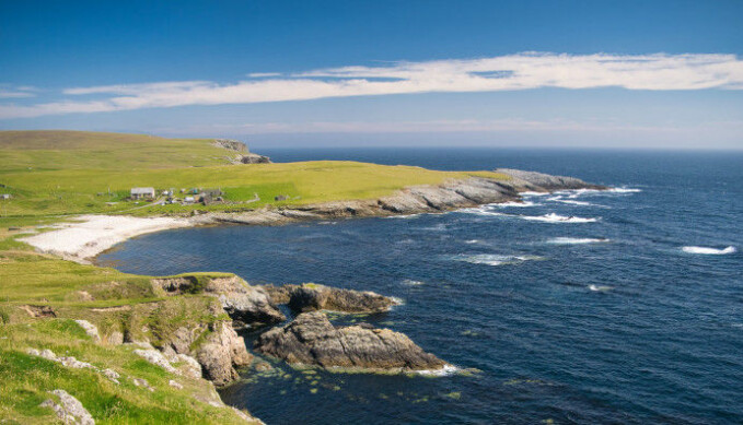 Today Shetland is a small archipelago. The Shetland land mass that existed not that long ago was much larger. Large rivers from the interior of the Shetland region spilled into the North Sea and met the glacial ice and meltwater from Norway.