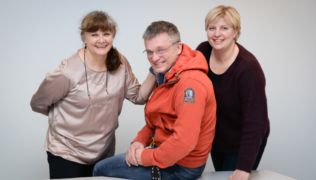 From left: Gro Rosvold Berntsen, Markus Rumpsfeld and Monika Dalbakk are behind the study that shows that patients who receive person-centred care have a lower mortality rate than the control group.