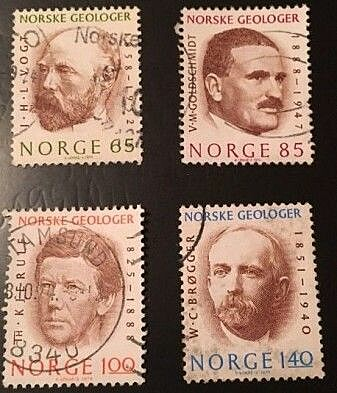 Goldschmidt is little remembered in Norway. But in 1974 he adorned Norwegian stamps as one of the great Norwegian geologists.