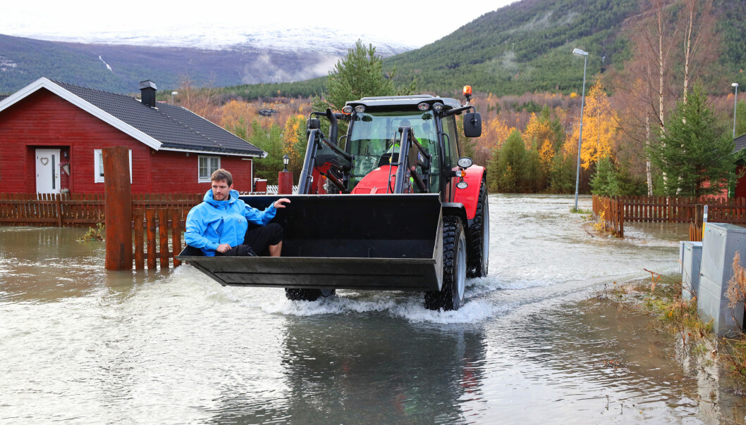 Spring is the high season for floodings, but in 2018 Skjåk was surprised by a spring flooding during late autumn.