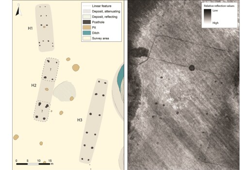 Mysterious remains of a huge, 'ship-shaped' house discovered near the Viking ship grave at Gjellestad