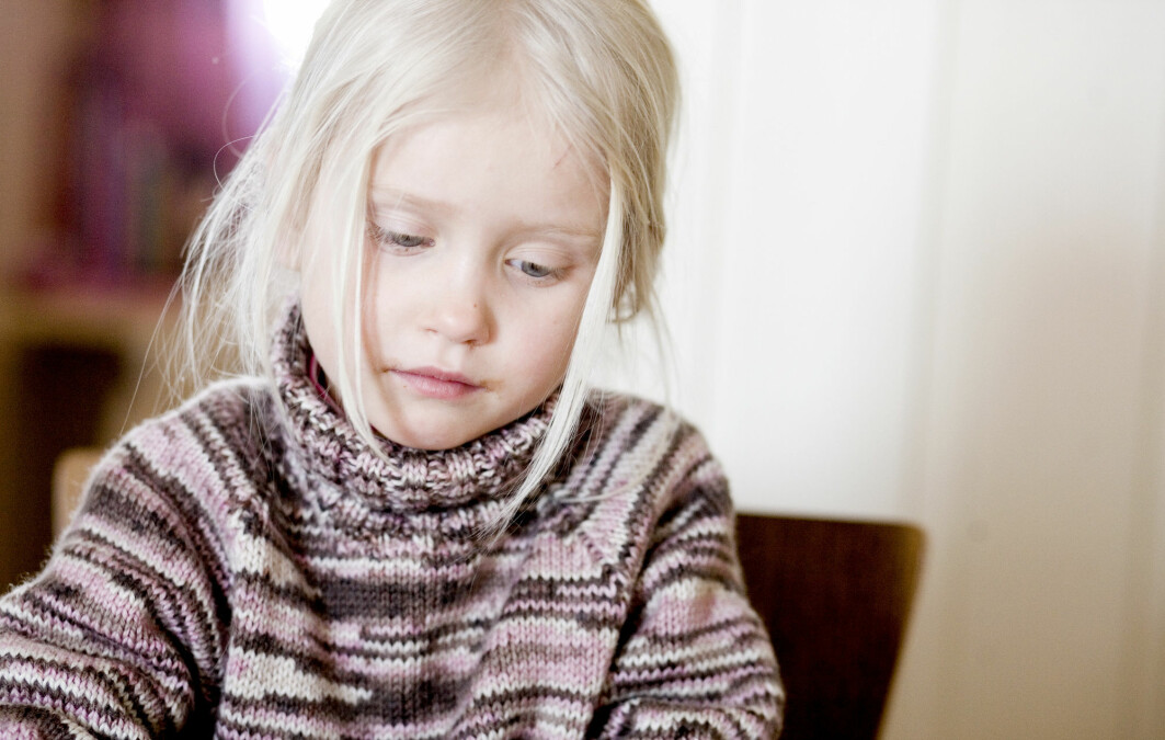 Symptoms of depression were measured in all children when they were eight years old.
